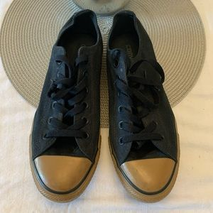 Converse Low Top Black & Tan Sneakers 143738F
